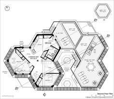 hexagon house floor plan - Google Search