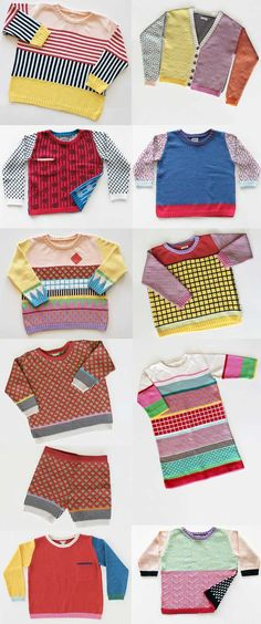 Such fun knits for the cold weather! by ALL Knitwear via StyleBubble (Mix Patterns Clothes)