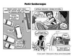 Parkir Sembarangan #KomikJakarta @sheilaro2105