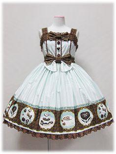 Angelic Pretty » Jumper Skirt » Melty Chocolate High Waist JSK