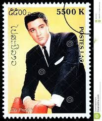 Laos Stamp - Elvis Presley