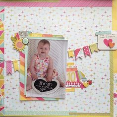 A page for @heylittlemagpie using @simplestories_ sunshine and happiness