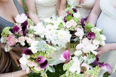 Purple in wedding flowers