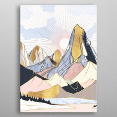 """Beautiful """"Summer Morning"""" metal poster created by SpaceFrog Designs. Our Displate metal prints will make your walls awesome. Watercolor Illustration, Watercolor Art, Fun Indoor Activities, Paint By Number Kits, Pencil Art Drawings, Art Sketchbook, Indian Art, Art History, Colorful Backgrounds"""
