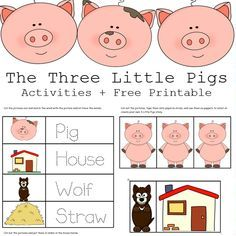 We used things from around the house to do some hands on learning all based on the fairy tale, The Three Little Pigs-affiliate link. To complete our activity I made some printable activities that include fun activities for sequencing, pre-writing, stick puppets to retell the story, and a page to color and design your own …