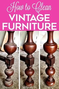How to clean vintage furniture within hours! Bring new life to old vintage wooden pieces! How to clean vintage furniture within hours! Bring new life to old vintage wooden pieces! Click The Link For See Restore Wood Furniture, Cleaning Wood Furniture, Furniture Care, Furniture Repair, How To Clean Furniture, Furniture Makeover, Painted Furniture, Furniture Refinishing, Refinished Furniture