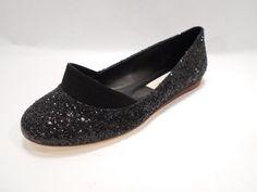 Stella McCartney Black Shiny Starlet Ballet Flat US 6 #StellaMcCartney #BalletFlat
