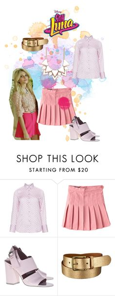 """soy luna"" by maria-look on Polyvore featuring Eterna, Alexander Wang, Uniqlo and Full Tilt"