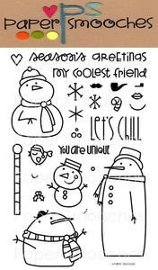 Paper Smooches SWANKY SNOWDUDES Clear Stamps Kim Hughes zoom image