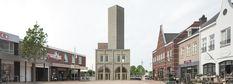Monadnock | Torre abstracta - Torre Mirador - Landmark | Nieuw Bergen, Paises Bajos | 2014-2015 | El objetivo era crear un elemento arquitetónico llamativo que sirviera como hito de la plaza del mercado y que albergara una torre mirador y una cafetería