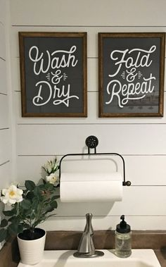 Rustic Laundry Room Reveal - Farmhouse Blooms - My most creative list Rustic Laundry Rooms, Laundry Room Wall Decor, Laundry Room Shelves, Laundry Room Remodel, Laundry Room Signs, Farmhouse Laundry Room, Laundry Room Organization, Laundry Room Printables, Laundy Room