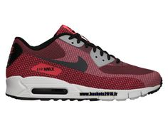 new styles 443a2 df9d1 Nike Air Max 90 Jacquard Chaussures Nike Officiel Pour Homme Rouge - Noir -  Blanc 631750-600