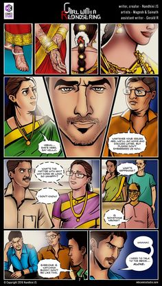 Sivappu Kal Mookuthi (a.a Girl with a Red Nose Ring): Page 07 Iron Man Comic Books, Online Comic Books, Old Comic Books, Free Comic Books, Best Comic Books, Comics Online, Comic Book In Hindi, Comic Book Font, Comic Book Layout