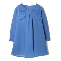 Vestido Azul Lazo
