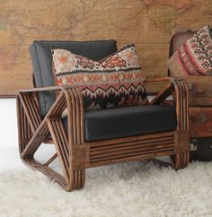 STYLE 473 COLLECTION - Split Cane Daybed, Split Cane Barstool, Cane Repairs, Cushion Recover, Cane Cushion Upholstery, Outdoor Wicker Furniture.
