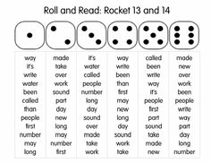 Mrs. T's First Grade Class: Roll and Read: Rocket Words