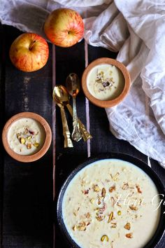 Date and Apple Kheer Recipe (Indian Milk Pudding with Apple and Date)