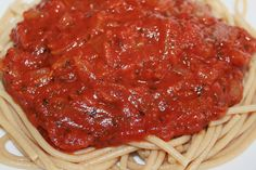 #MeatlessMonday Spaghetti Sauce is perfect over our Ancient Harvest Quinoa Pasta!