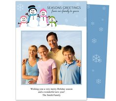 Photo Cards : Snowman Holiday Photo Card Template