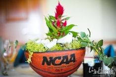 This basketball centerpieces Final Four • NCAA • March Madness • Party • Recipes •