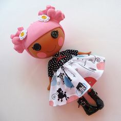 Lalaloopsy  Little Parisian Dress and Charm by PistachioLoopsy, $14.00