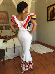 Khomotso's second modern traditional wedding dress