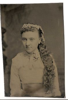 Tintype Photo Girl with Crown or Wreath of by TableauBotanique, $39.99