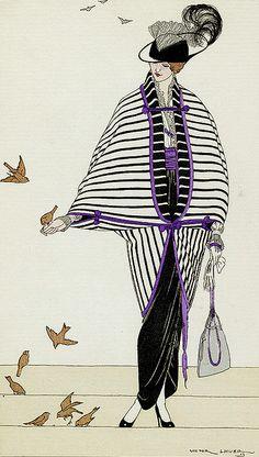 * Demi deuil 1913 Victor Lhuer (1883-1951) Journal des Dames et des Modes Costumes Parisiens