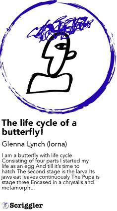The life cycle of a butterfly! by Glenna Lynch (lorna) https://scriggler.com/detailPost/story/37432