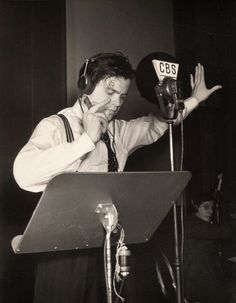 Orson Welles reading H. G. Welles' War of the Worlds on a radio program. Outcome was disastrous for those who tuned in mid-program... complete panic nation-wide.
