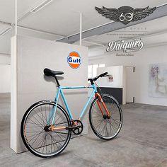700c Daiquiri Limited Edit GULF Fixed Gear Bike Fixie Single Speed Bicycle Track