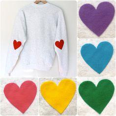 He encontrado este interesante anuncio de Etsy en https://www.etsy.com/es/listing/104564788/elbow-heart-sweatshirt-multi-colors