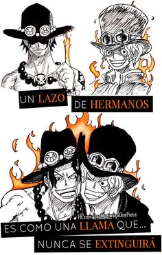#OnePiece ¡Un lazo de hermanos es como una llama que nunca se extinguirá!
