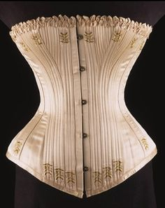 similarites and differences. historic appearences. Victorian Corset 1890