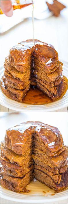 2014 Thanksgiving Vegetarian Pumpkin Pancakes - Cinnamon, caramel #2014 #Thanksgiving #Pumpkin #Pancakes #Tutorial
