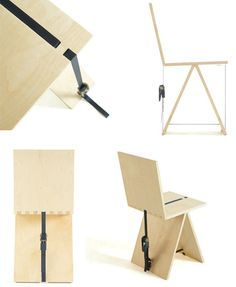 Ratchet strap flat pack chairs and tables.