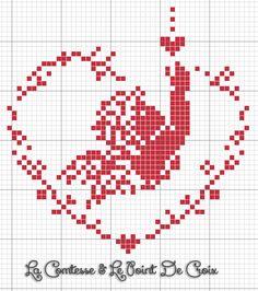 Nello spazio di un'ora (o forse anche meno...) si può far nascere questo piccolo cuore.   Basta un po' di filo rosso (e per me anche ...