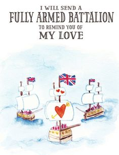 Hamilton Greeting Card - I Will Send A Fully Armed Battalion to Remind You of My Love - King George