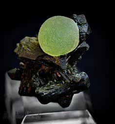 Préhnite sur Epidote   Barras-Gautier-Min. Minions, True Colors, Collections, Crystals, The Minions, Minions Love, Minion Stuff