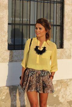 Yellow Safari ( Silk Shirts & Blouses & Necklaces )