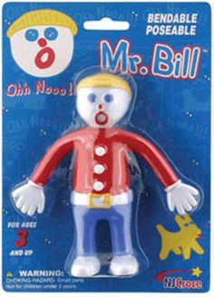 Remember and laugh at the classic TV skit from the 70's show with the NJ Croce Mr. Bill Toy. Save Mr. Bill from the various indignities inflicted by Mr. Hands, or play the dastardly role yourself. Ooo