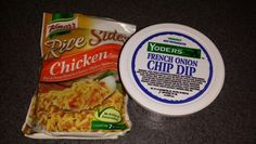 One pack chicken rice side and three or four scoops of yoder French onion dip and about or water mix all in pan and you have a new rice side! French Onion Dip, French Dip, Onion Soup Mix, Chicken Rice, Dips, Snack Recipes, Water, Food, Snack Mix Recipes