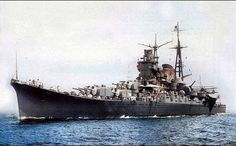 Heavy Cruiser, Imperial Japanese Navy, Colorized Photos, Naval History, Navy Ships, Battleship, Armed Forces, Colorful Pictures, Cruises