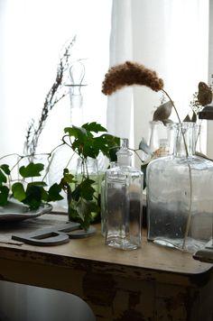 アンティーク/antique/ french/interior/bottle/green/インテリア/グリーン/ワインボトル/ガラス/