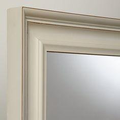 Buy John Lewis Distressed Mirror, Cream, 102 x 72cm £120