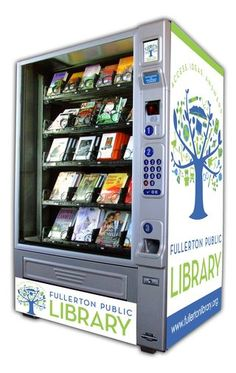 """""""Book Vending Machines are Here! Riding the train or the bus and have nothing to read? Don't have the money for a Nook or Kindle? Fullerton Public Library in southern California has the answer. Book vending machines!"""""""