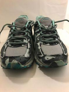 6475318afad3b5 Asics T6K7N 1193 Gel Scram 3 Stone Grey Women s Running Shoes Size 9 Used   fashion