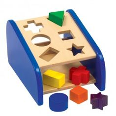 Hide n Seek Shape Sorter Wooden Toy $25.97 With this quality developmental activity toy by Guidecraft kids will love to hide the wooden shapes in the shape sorting slots, seek them and play with this manipulative toy again and again! http://www.educationaltoysplanet.com/hid-n-seek-shape-sorter-wooden-toy.html