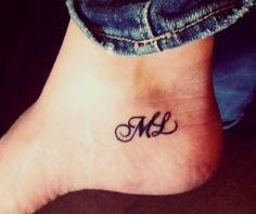 Script Initial Tattoo