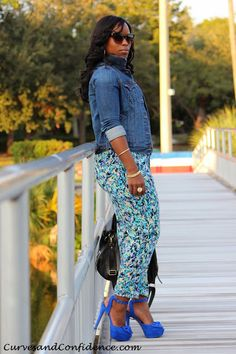 Curves and Confidence | A Miami Style Blogger: Weekend Wear: Blues and Shoes